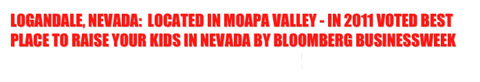 Logandale, Nevada:  Located in Moapa Valley - In 2011 Voted Best Place to Raise your Kids in Nevada by Bloomberg Businessweek 